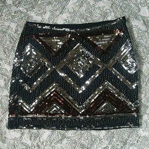 H&M sequence mini skirt